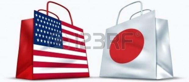 BANDIERA USA E GIAPPONE