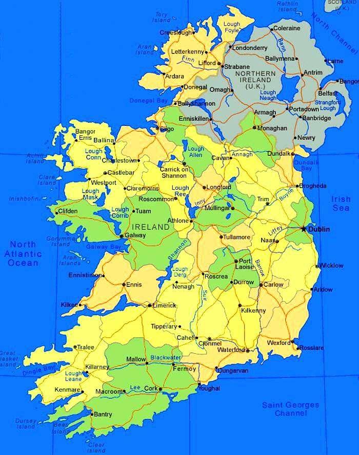 Cartina Geografica Irlanda Del Sud.Pinguinoeconomico Irlanda Come Un Pigs Diventa Un Piigs